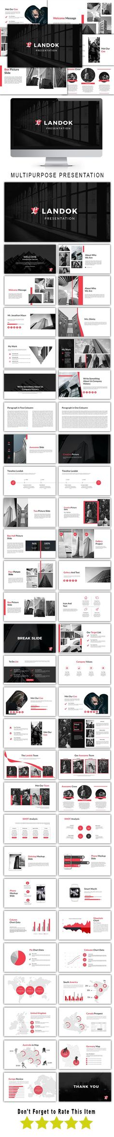 Landok Multipurpose Powerpoint Template - PowerPoint Templates Presentation Templates