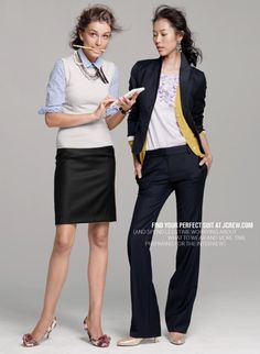 More ideas for business attire! However, don't accessorize too much!