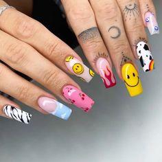 Mc Nails, Teen Nails, Pink Gel Nails, White Acrylic Nails, Best Acrylic Nails, Asian Nails, Halloween Acrylic Nails, Romantic Nails, Beauty Hacks Nails