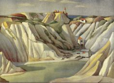 Herbert Truman was an artist member of the St Ives School in the years and amongst his output were images of Cornish industrial landscapes - mining and china clay pits. China Clay, Cornwall, Artist, Mud, Trains, England, Paintings, Painting Art, England Uk