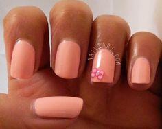 Models Own Pastel Pink Bow Nail Art by Nailtart.com