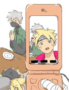 what are you doing Boruto I want see kakashi face .....