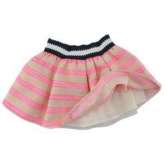 BILLIEBLUSH Pink and white striped stretch-skirt