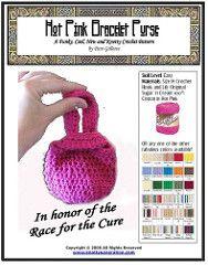 Hot Pink Bracelet Purse pattern by Pam Gillette
