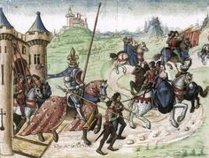 How did women ride horseback?  Excerpt: A French illumination of c.1480 showing King Rene of Naples before a duel with the Duke of Alençon. The lady is sitting demurely on-the-side of her ambler or palfry, her feet hidden but presumably supported by a foot-board.  '...research reveals that there were four different riding styles and whether and when women rode astride, pillion, on-the-side or true side-saddle has never been fully investigated by historians. '