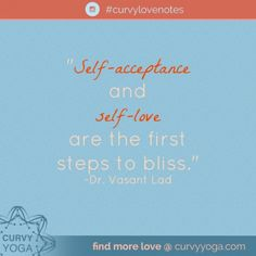Want a little inspiration in your life today? Here's today's love note called Bliss. Get more at www.curvyyoga.com/lovenotes/. #CurvyLoveNotes Plus Size Yoga, Self Acceptance, Positive Messages, Love Notes, First Step, Self Love, Feel Good, Bliss, Meant To Be