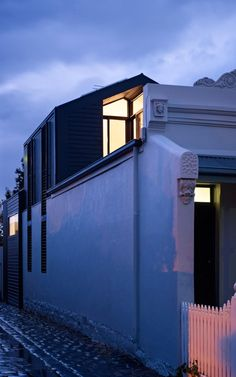 House With a Modern Design Line Located in a Historic Victorian Neighbourhood