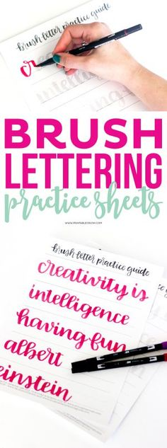 Use this Brush Lettering Practice Sheet to get you. Use this Brush Lettering Practice Sheet to get you started with your lettering skills! These were designed by the super talented Olivia from Random Olive!