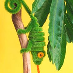 Pipe cleaner critter! So cute!  Have to do with Grandkids !   http://www.marthastewart.com/266158/pipe-cleaner-creatures