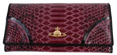Purses For Women | Vivienne Westwood Frilly Snake Purse - Cherry | @ KJ Beckett - Only £119.95!!