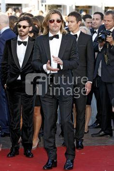 Killing Them Softly - Scoot McNairy and Brad Pitt attend the Premiere during the 65th Annual Cannes Film Festival at Palais des Festivals. May 22, 2012 (photo Dave Bedrosian)