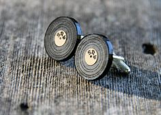 Personalized Vinyl Record LP Cufflinks by miniFab on Etsy, $17.99