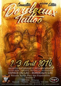 Bordeaux Tattoo Convention 02 - 03 Avril 2016