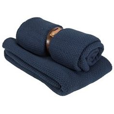 Deka ULLVIER 130x180 pletená modrá