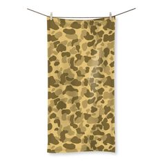 American Marine WWII Beach CAMO Beach Towel