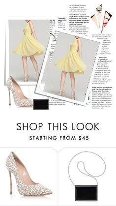 """Daffodil A Line Princess Scoop Neck Knee Length Chiffon Homecoming Dress Harry Dress HD89914"" by harrydress on Polyvore featuring Casadei, Nine West, dress and Homecoming"