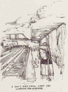 I don't think there's anything more me then the girl in this picture Illustrations, Illustration Art, Vent Art, Arte Sketchbook, Out Of Touch, Quote Aesthetic, Art Inspo, Images, Sketches