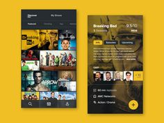 A TV show recommendation and tracking app concept. Thanks for the invite @Marius Ciuchete Păun!