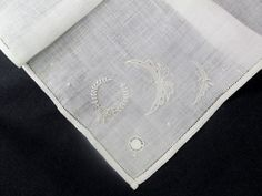 Antique Irish Linen Embroidered Handkerchief by VintageLinens, $10.00