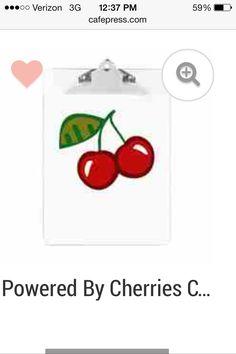 Cherries clip board