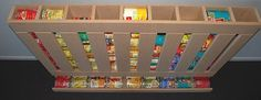 How to make canned food dispensers   3  designs  Learn how to make them.  When food come in cans, a can dispenser makes it possible to rotate your cans of food, always using the oldest first.
