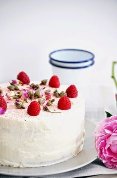 Layer cake citron,framboises
