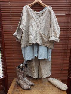 RITANOTIARA европейских белье-Прери негабаритных Рыбак рубашка Все размеры негабаритных середине Западной прерии Шебби шик Бохо, Lagenlook длинными рукавами