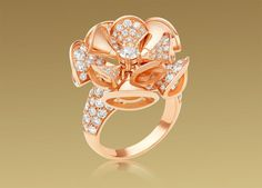 Bvlgari Diva ring in 18 kt pink gold with diamonds
