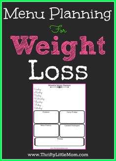 Menu Planning For Weight Loss!  Trying to lose weight on your own can be really hard.  Find out how menu planning can help save you time, money and sanity on your way to better health. #sponsored