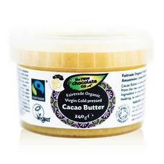 Organic Virgin Cacao Butter is a deliciously creamy butter extracted from the whole raw cacao bean. The perfect addition to your healthy treat-making cupboard!