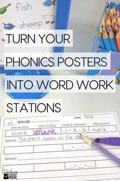 Make phonics posters
