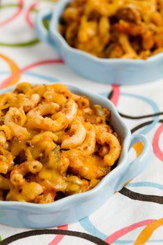 paula deen beef and macaroni