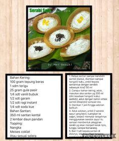 Serabi solo My Recipes, Cake Recipes, Snack Recipes, Dessert Recipes, Cooking Recipes, Snacks, Desserts, Malaysian Dessert, Resep Cake