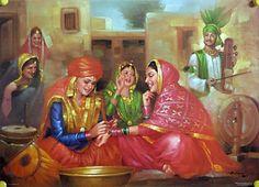 Old Punjabi Culture : Preparations for Punjabi marriage