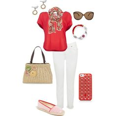 June First by jlucke on Polyvore: What a cute set by @Jennifer Lucke! Thanks, Jennifer!
