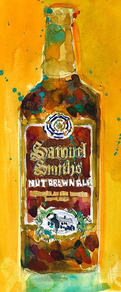 Samuel Smith Nut Brown Ale Print Size 8.5 x. 11 and by dfrdesign
