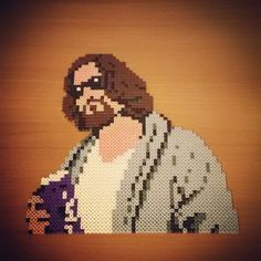 The Dude - The Big Lebowski hama beads by sergiovanhipster