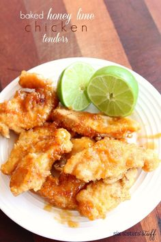Baked Honey Lime Chicken Tenders | Six Sisters' Stuff