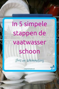 Hoe je de was droogt als het regent - Waar is Mam Household Organization, Household Chores, Household Cleaners, Clean Life, Clean House, Clean Clean, Diy Cleaning Products, Cleaning Hacks, Plate