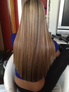 Long beautiful straight hair