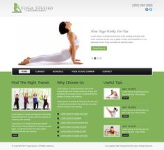 Welcome page and fully functional features for Yoga center, studios or class