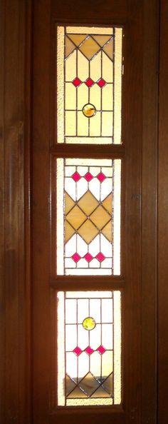 CUSTOM Sidelight Stained Glass Panel Art Deco by BeadedGlass