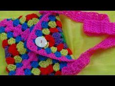 CROCHET GRANNY SQUARE BAG-1 - YouTube