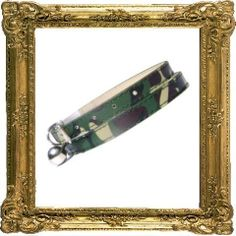 Cool Urban army camo cat collar, imitation leather, in green camouflage