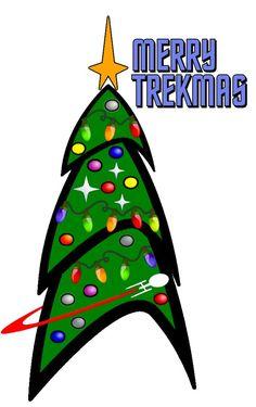 A Very Merry Star Trek Christmas! (wish I had seen this sooner. Star Wars, Star Trek Tos, Star Trek Christmas, Christmas Crafts, Christmas Printables, Christmas Ideas, Christmas Ornaments, Affiche Star Trek, Alien Nation