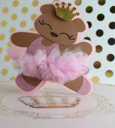 Ballerina Tutu Cute Invitations  https://www.etsy.com/listing/499552643/teddy-bear-invites-tutu-cute-ballerina