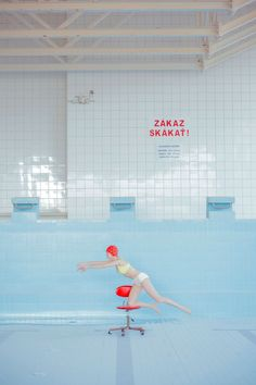 """The Calm Waters of Photographer, Maria Svarbova's """"In the Swimming Pool"""" Series 