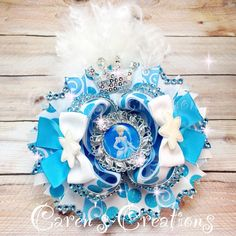 Over the top Cinderella stacked boutique bow, Disney, Princess, Cinderella, bow, hair bow, girl's hair accessories.