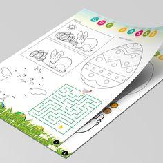 Med denne pakke får du underholdning for børnene til påskefrokosten. I alt 6 opgaveark og 2 forskellige spil, der blot skal printes. Til børn fra 4- 9 år Printer, Notebook, Bullet Journal, First Grade, Printers, The Notebook, Exercise Book, Notebooks