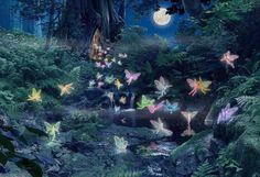 Fairy moon wallpaper
